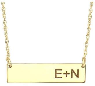 ai A & I Bar Initial Necklace