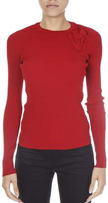RED Valentino Red Viscose Round Neck Jersey