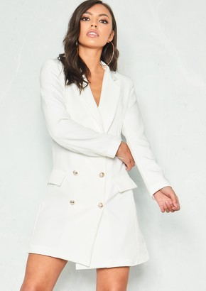 b664839cd624 Missy Empire Carly White Tuxedo Mini Dress