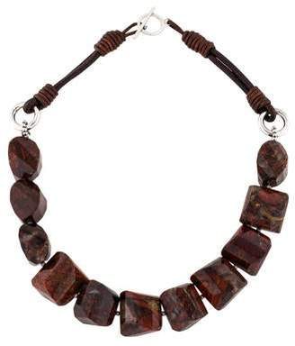 Brunello Cucinelli Jasper Bead Necklace