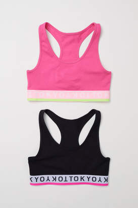 H&M 2-pack Tops - Black