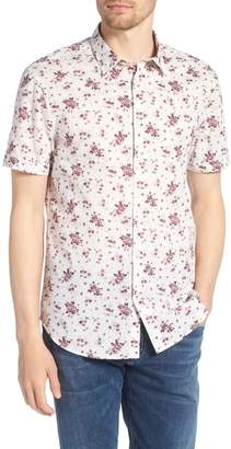 John Varvatos Regular Fit Floral Woven Shirt