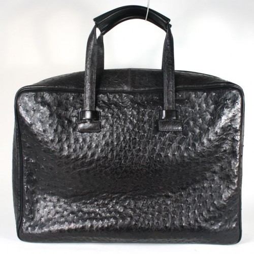 Tom Ford excellent (EX Very Rare Black Ostrich Large Bag