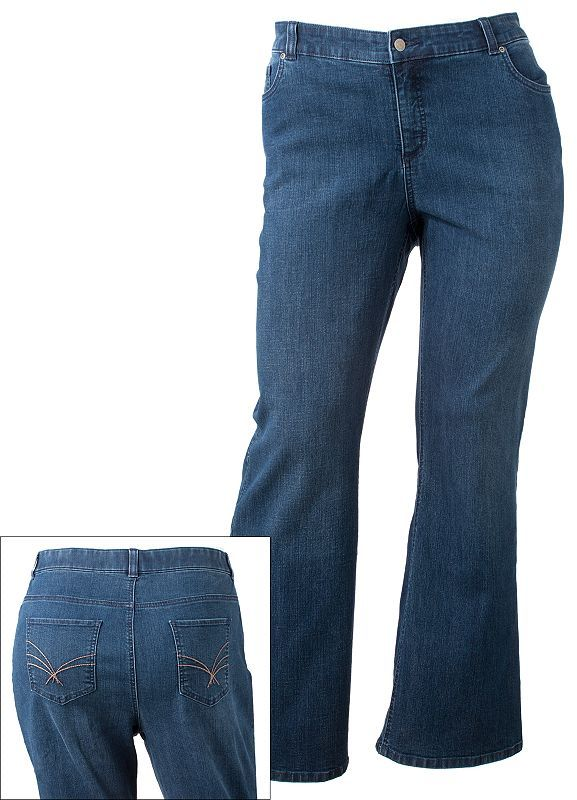 Croft and barrow curvy bootcut jeans - women's plus