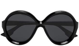 Christian Dior Black Bianca round frame sunglasses