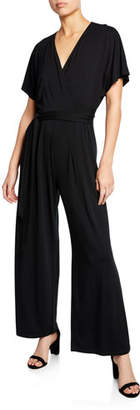 Nic+Zoe Petite Ease V-Neck Short-Sleeve Wide-Leg Jumpsuit
