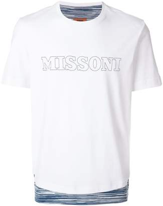 Missoni logo print striped hem T-shirt