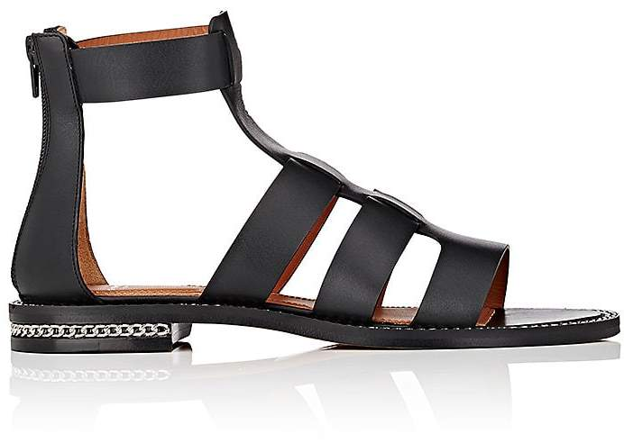 Givenchy Women's D-Chain Leather Gladiator Sandals