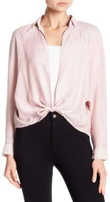 Love, Fire Tie Front Stripe Shirt