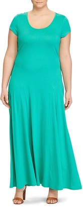 Lauren Ralph Lauren Plus Cap Sleeve Maxi Dress $110 thestylecure.com