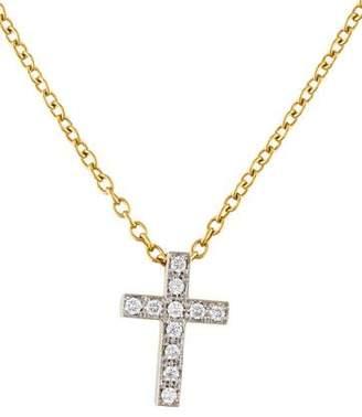 Pomellato 18K Diamond Cross Pendant Necklace