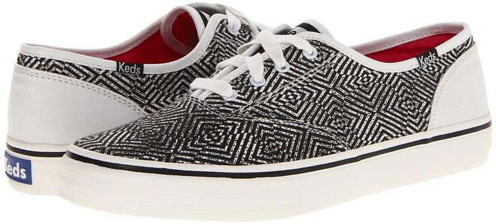 Keds Double Dutch Optic (Black/White) - Footwear