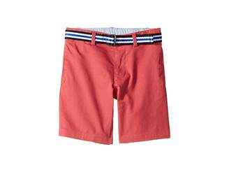 Polo Ralph Lauren Slim Fit Belted Stretch Shorts (Little Kids)