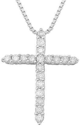 Silver Cross FINE JEWELRY CT. T.W. Diamond Sterling Pendant Necklace