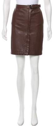Trussardi Leather Mini Skirt