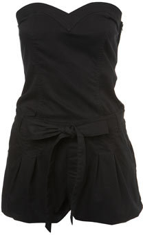 Black Puffball Playsuit