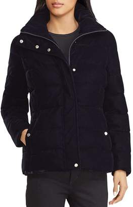 Ralph Lauren Velvet Puffer Coat