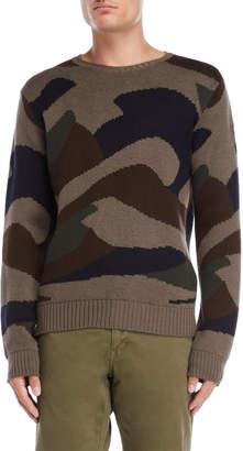 Serge Blanco Military Camo Sweater