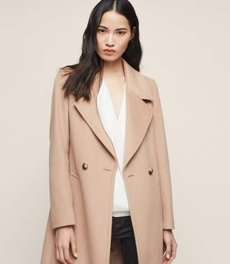 Reiss Lawson Double-Breasted Longline Coat