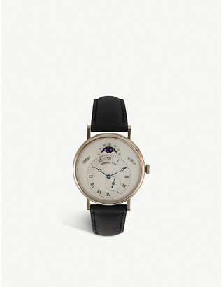 Breguet 7337BB/1E/9V6 Classique 18ct white-gold and leather watch