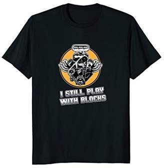 Comical Men's Play With Blocks T-shirt