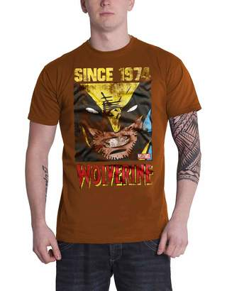 Wolverine Marvel Merch Marvel T Shirt Since 1974 New Official Mens