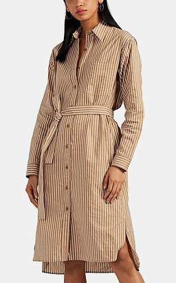 Nili Lotan Women's Bonnie Striped Cotton-Silk Shirtdress - Ivorybone
