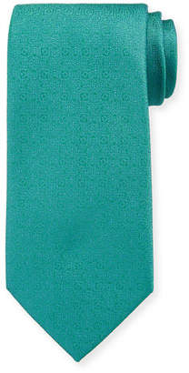 Charvet Men's Silk Tonal Medallion Tie