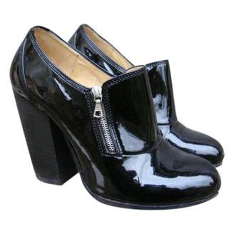Dries Van Noten Black Patent leather Ankle boots