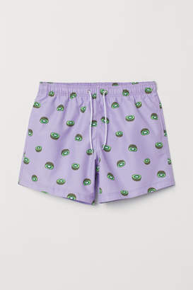 H&M Patterned swim shorts - Purple