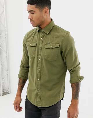 G Star G-Star slim fit 3301 shirt in khaki