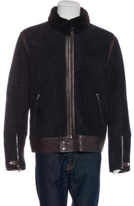 Louis Vuitton Shearling Belt-Accented Jacket