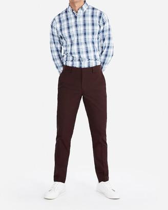 Express Extra Slim Burgundy Cotton Blend Stretch Suit Pant