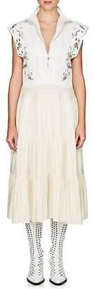Chloé Women's Embellished Crepe Dress - White