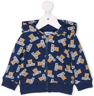 Moschino Kids teddy bear print hooded sweatshirt