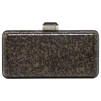 Oscar de la Renta Khaki Clutch Bag