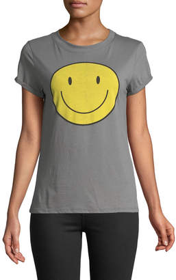 Knit Riot Smiley-Face Graphic Tee