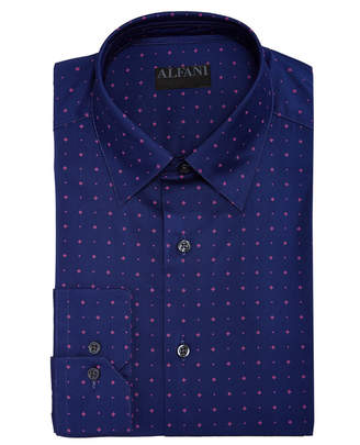Alfani AlfaTech by Men's Slim-Fit Performance Stretch Diamond Star Print Dress Shirt, Created For Macy's