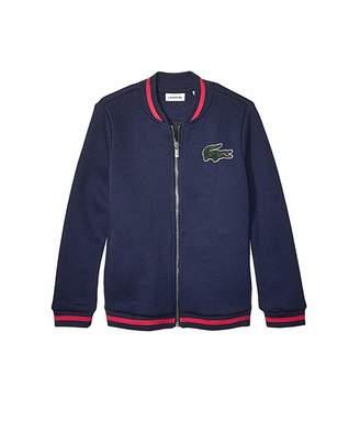 Lacoste Kids Multicolored Patch Fleece Varsity Jacket (Toddler/Little Kids/Big Kids)