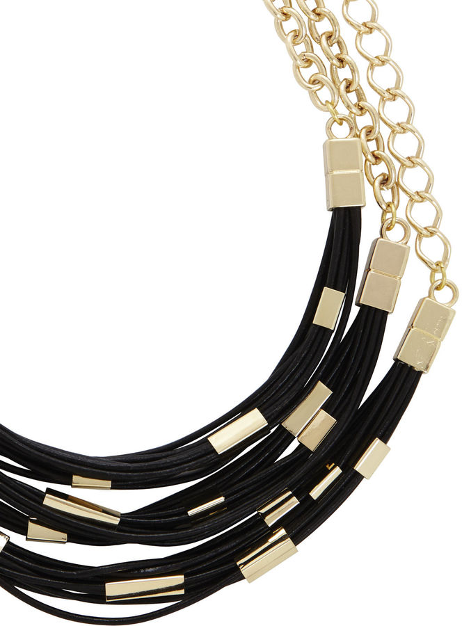 BCBGMAXAZRIA Tribal Cord and Bead Necklace