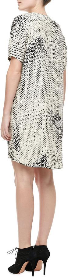 Halston Printed High-Low Dress