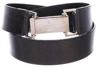 Gucci Embossed Buckle Belt