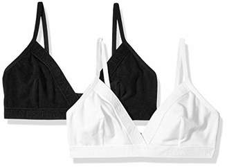 3acf41512cf4e Hanes Ultimate Women s Casual Comfort Logo Wirefree Triangle Bra 2-Pack
