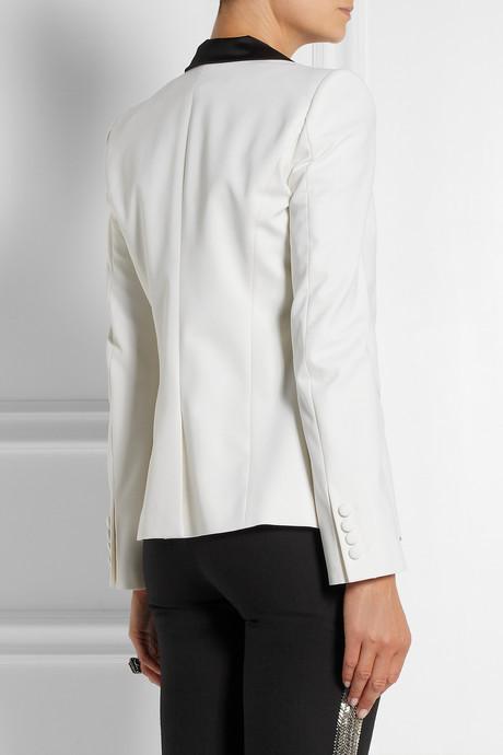 Roberto Cavalli Stretch-wool tuxedo blazer