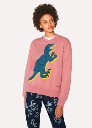 Paul Smith Women's Pink Large 'Dino' Print Cotton Sweatshirt