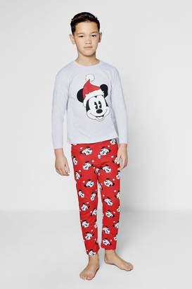 boohoo Boys Disney Mickey Christmas Pyjamas