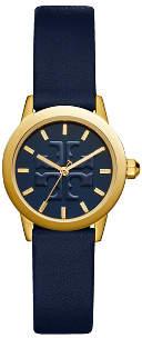 Tory Burch Gigi Watch, Navy Leather/Gold-Tone, 28 Mm