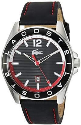 Lacoste Men's 'Westport' Quartz Stainless Steel and Leather Casual Watch