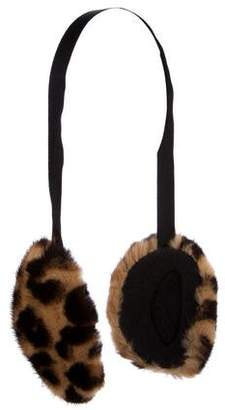Louis Vuitton Leopard Mink Earmuffs