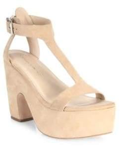 Loeffler Randall Minette Suede Platform Wedge Sandals